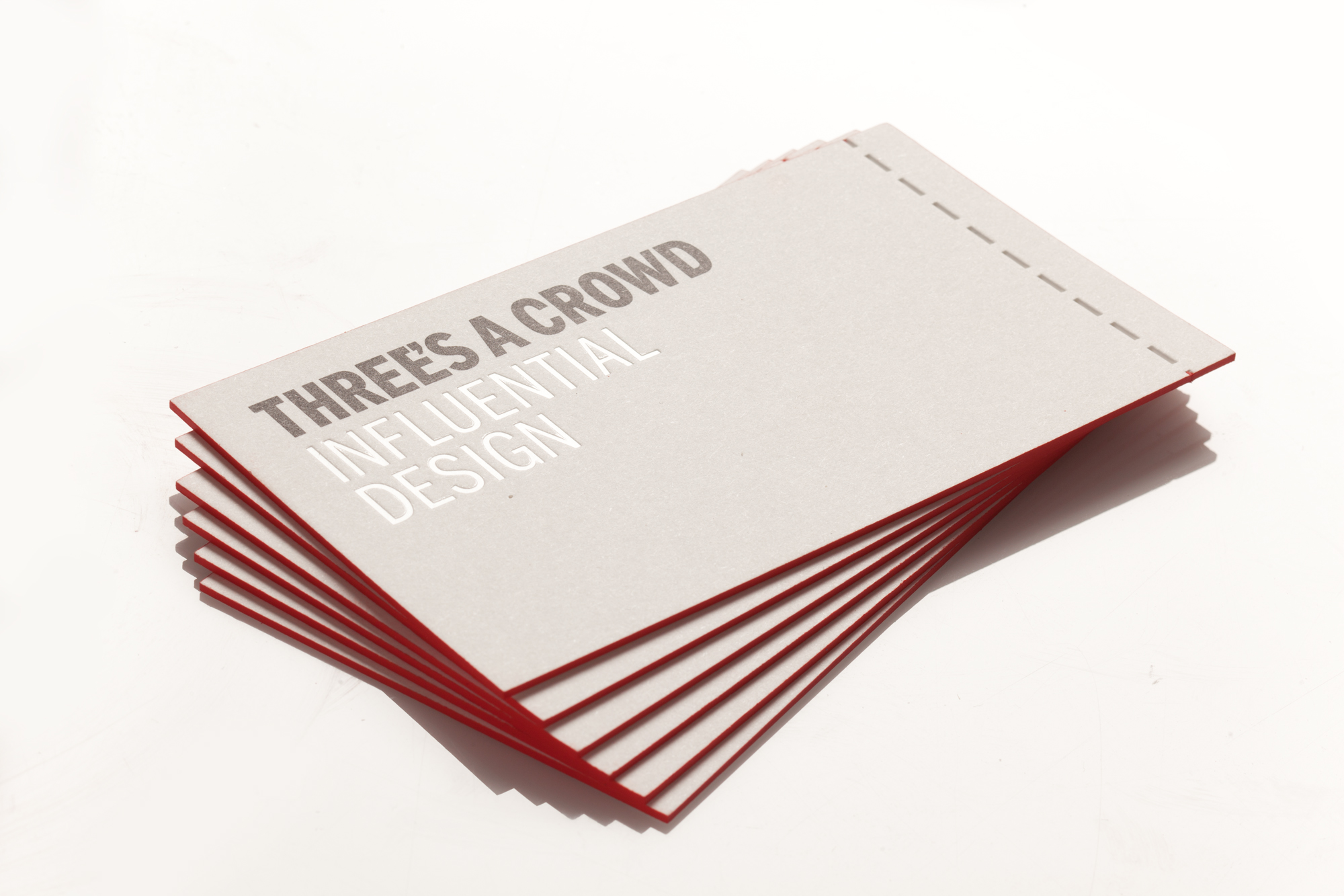 Press Print Digital Melbourne | Three\'s a Crowd Business Cards